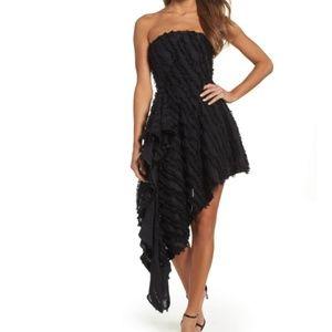 Distinct Recollection Fringe Asymmetrical Dress
